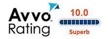 The AVVO Rating for the Pate Law Firm 10.0 Superb