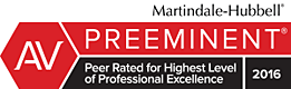 Martindale Hubbel - Page Pate has been peer rated for the highest level of professional excellence